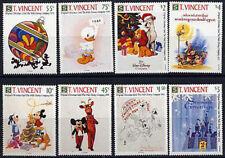 "ST. VINCENT, Sc #1568-75, MNH, 1991, Disney, ""Walt's Christmas Cards"", 1FFID"