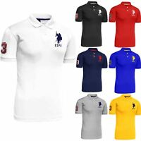 Mens Polo Tshirt Top Designer US Polo Assn Original T-Shirt Short Sleeve Cotton