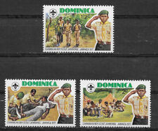 DOMINICA , 1977 , BOY SCOUTS JAMBOREE , SET OF 3 STAMPS , PERF , MNH