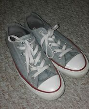 CONVERSE LIGHT PALE BLUE WHITE RED PIPING CHUCK TAYLOR ALL STAR TRAINERS SIZE 4