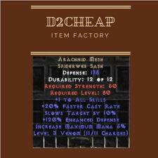 Arachnid Mesh Belt Arach - Diablo 2 Europe / East / West Ladder & NON