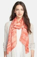 NWT!  Eileen Fisher Sheer Painterly Shibori Scarf Color:Sunset Made in Japan