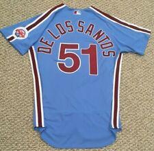 DE LOS SANTOS #51 size 46 2020 PHILADELPHIA PHILLIES Home RETRO Game Jersey MLB