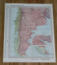 1958 ORIGINAL VINTAGE MAP OF SOUTHERN ARGENTINA CHILE BUENOS AIRES SOUTH AMERICA