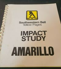 Vtg 1982 Southwestern Bell Yellow Pages Amarillo Texas Sales Study Corporate