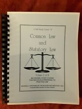 A Self Study Course Of Common Law & Statutory Law, Vol. 1 Plastic Comb Binding