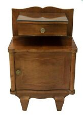 1930s French ART DECO Floating Drawer Marquetry Bedside Cabinet - side/end table
