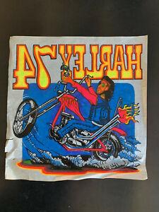 "#76 Vintage Motorcycle T-Shirt Iron-On Transfer ""Harley-Davidson 1974 Chopper"""
