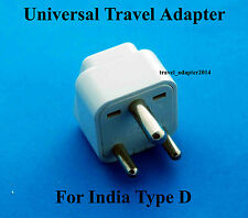 Universal to India Type D Travel Plug Adapter Converter UK USA EU AUS New