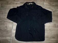 New listing Woolrich Wool Black Jacket Over Shirt Hunting Coat Men's Button Front Size Large
