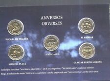 ARGENTINA COINS BLISTER,1 PESO BIMETALIC X 5 DIFFERENT COINS,BICENTENARY SET UNC