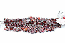Garnet Faceted Teardrop Shape Bead