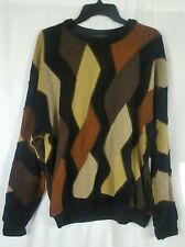 VTG 90s Tundra Mens Brown Sweater Long Sleeve Coogi Style Canada Size Large