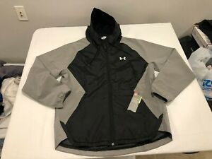 NWT $80.00 Under Armour Mens Storm Stretch Woven Jacket Gray / Black Size XL