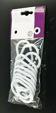 NIRA 12 X WHITE PLASTIC RINGS COOKE & LEWIS BATHROOM CURTAIN PLASTIC RINGS HOOK