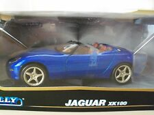 WELLY COLLECTABLE - JAGUAR XK180 ROADSTER (BLUE) - 1/24 DIECAST