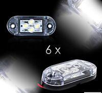 6 x 24V SMD 4 LED Bianco Lato ant. Luci di Ingombro Posizione CAMION RIMORCHIO