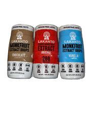 3-Lakanto Liquid Monkfruit Extract Sweetener Drops Original/Vanilla/Chocolate
