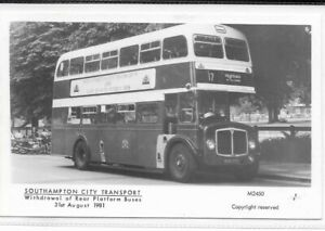 Southampton photograph, real platform bus photo, withdrawal of 1981