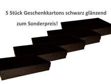 5 Stück Geschenkkarton groß 41 x 31 x 9 cm, schwarz glänzend zum Sonderpreis