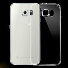 Ultra Slim Transparent Back Silicone Rubber Case TPU Cover Bumper For Samsung