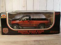 JRL Dodge Ram 3500 Dually V10 Pickup Truck 1:18 Scale Diecast Red/Blk 1997 Anson