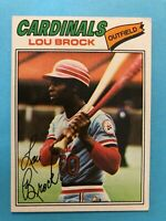 1977 Topps Baseball Card #355 Lou Brock St. Louis Cardinals  HOF