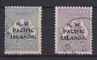 PNG906) New Guinea 1915-16 NWPI overprints kangaroos 2nd watermark 6d & 9d