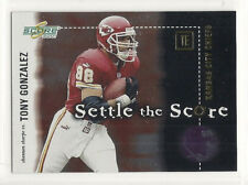 2001 Score Football - Settle The Score - #14 - Tony Gonzalez & Shannon Sharpe