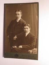 Hugo Händel und ???  - 2 junge Männer im Anzug / CDV Ernst Wilke Goslar
