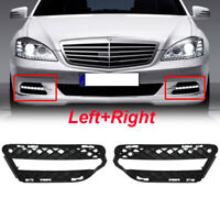 Pair Front Fog Light Trims Driving Lamp For Mercedes-Benz W221 S450 S550 09-13