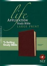 NLT Life Application Study Bible (Brown Leather-like, Large Print)
