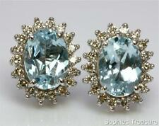 Natural Aquamarine Fine Earrings
