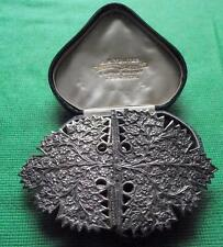 Old Art Nouveau White Metal Indian Silver Midwife Nurse Buckle : Valentine Gift