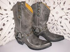 Old Gringo Boots, Leather Studded Buckle Accent Cowgirl Boots, W Size 6.5
