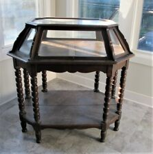 Large Gorgeous Mid-19th C. DISPLAY CABINET w/ Glass Top & Sides  c. 1860 antique