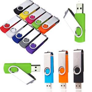 Flash Memory 64GB 32GB 16GB 8GB 4GB USB 2.0 Stick Pen Drive U Disk Swivel Key SM