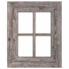 BarnwoodUSA Rustic Reclaimed Wood Window Frame, Weathered Gray - FREE SHIPPING