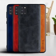 Case for Samsung Galaxy A31 A21S A51 A71 A21 A11 M31 A91 leather cover case hard