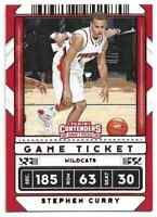 2020-21 Panini Contenders Draft Picks Red Game Ticket Stephen Curry #1