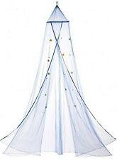 Beautiful * Blue Starry Sky Bed Canopy W/ Blue Stars All Over Net * Nib