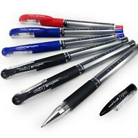 6 x Uni-Ball UM-151S Signo Gel Grip Rollerball Pen – 3 x Black, 2 x Blue, 1 Red