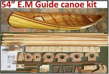 """54"""" Canoe model kit, Deluxe Red Cedar parts, pine ribbing"""