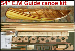 "54"" Canoe model kit, Deluxe Red Cedar parts, pine ribbing, easy to build"