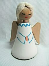 Vintage Wooden Angel w/ Yarn Hair Made in Sweden Christmas Nativity