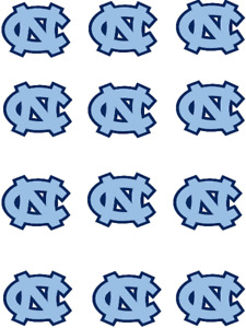 """Cake Toppers North Carolina Tar Heels Cupcake Toppers Edible 2"""" Frosting Circles"""