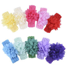 10Pcs Wholesale Baby Girls Infant Toddler Flower Headbands  Hair Band Hairdress