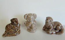 WADE WHIMSIES BEAVER KOALA OTTER FIGURINES RED ROSE TEA PREMIUM MINIATURES