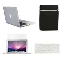 """4 in1 Rubberized CLEAR Case for Macbook PRO 15""""+ Keyboard Cover+ LCD Screen+ Bag"""