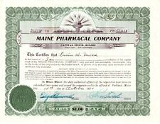 Maine Pharmacal Company Me 1920 Stock Certificate
